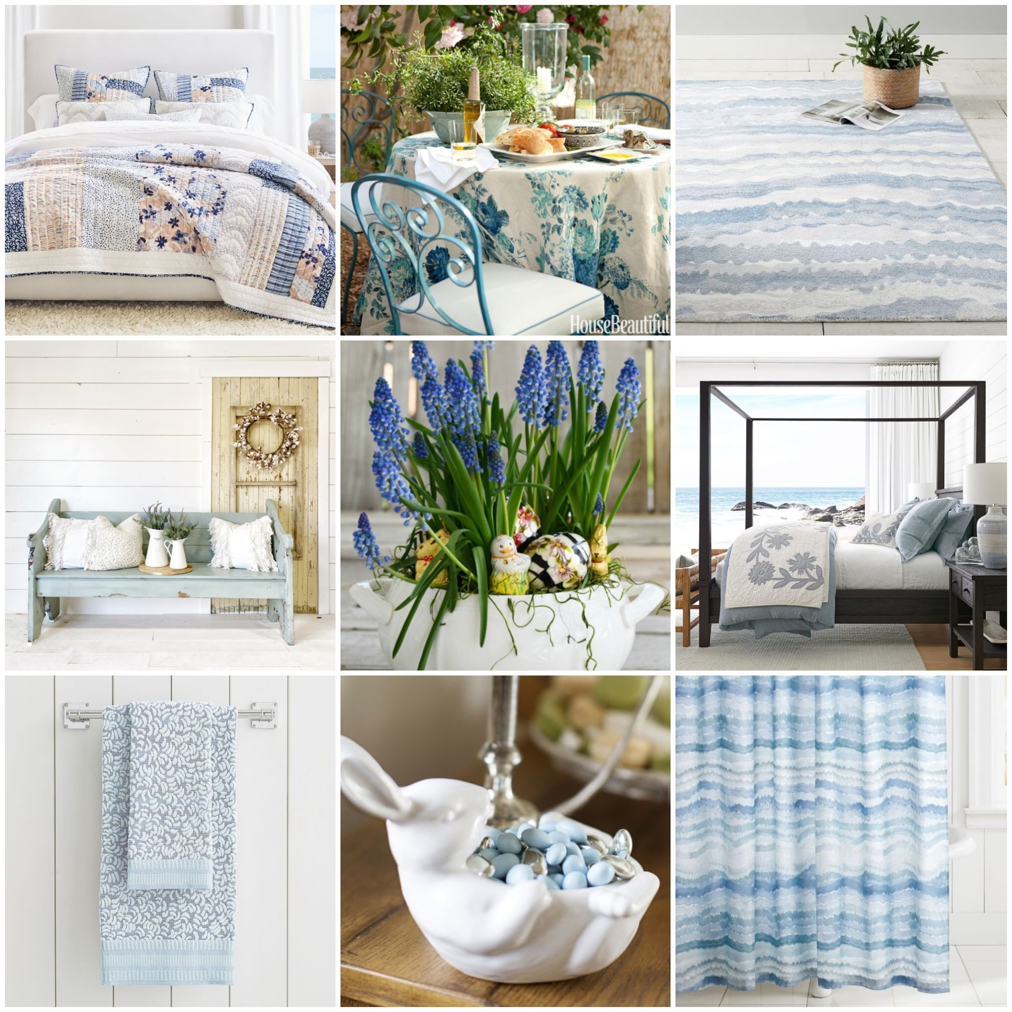 Blue and White for Spring and Summer - My Sweet Blue Home